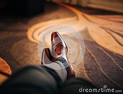 Man Wearing Leather Shoes Free Public Domain Cc0 Image