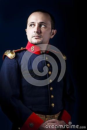 Free Man Wearing Military Jacket 19th Century Royalty Free Stock Image - 27059136