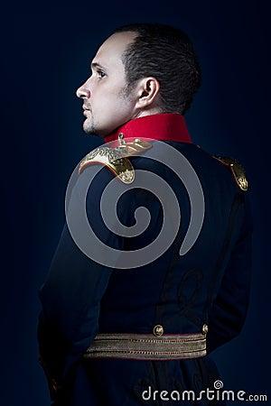 Free Man Wearing Military Jacket 19th Century Royalty Free Stock Photo - 27059145