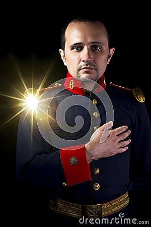 Free Man Wearing Military Jacket 19th Century Royalty Free Stock Images - 27059169