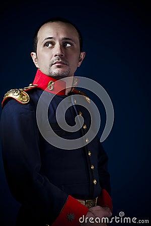 Man wearing military jacket 19th century