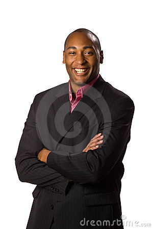 Man wearing suit with smile