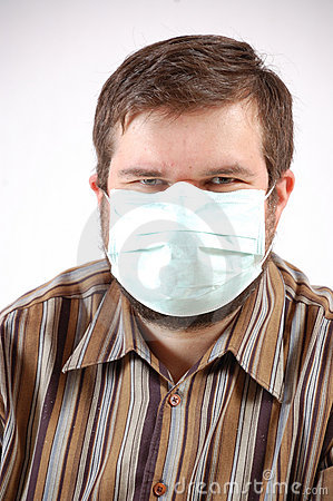 Man wearing a surgical mask