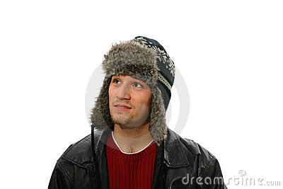 Man wearing winters hat