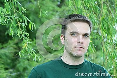 Man, Weeping Willow