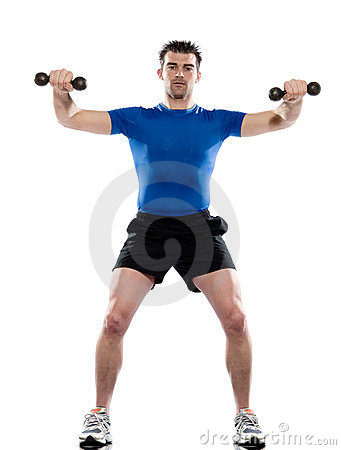 Man weight training Worrkout Posture