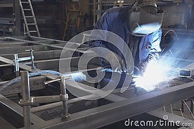 Man welding