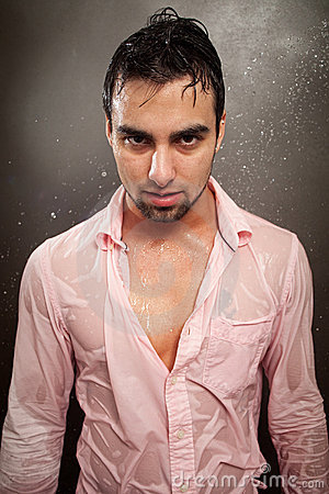 Man in Wet Shirt