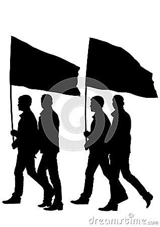 Man whit flag
