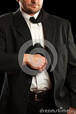 Man whit his gun