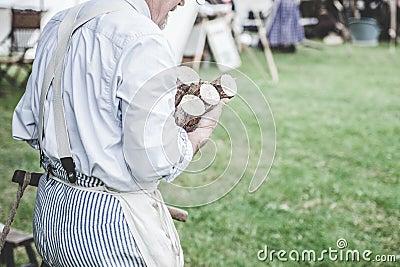 Man In White Dress Shirt Carrying Brown Wood Logs Free Public Domain Cc0 Image