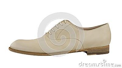 Man white shoe