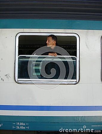 Man on the window