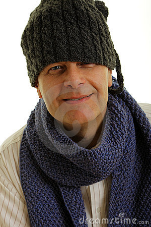 Man with winter cap
