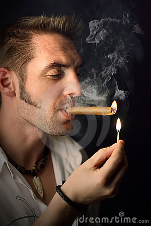 Free Man With A Cigar Royalty Free Stock Image - 7099536
