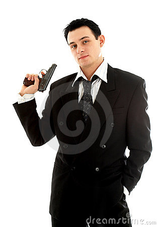Free Man With A Gun Stock Photos - 1809383