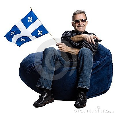 Free Man With A Quebec Flag Royalty Free Stock Images - 2404019