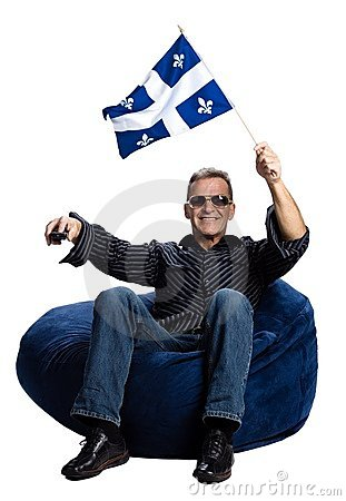 Free Man With A Quebec Flag Stock Image - 2404021