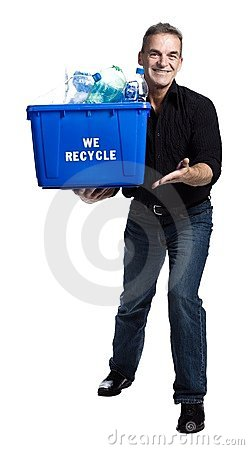 Free Man With A Recycling Box Stock Photo - 2404070