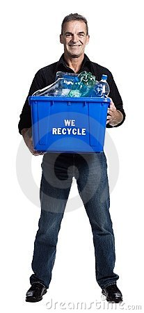 Free Man With A Recycling Box Stock Images - 2404094
