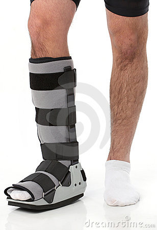 Free Man With An Ankke Brace Royalty Free Stock Image - 11375866