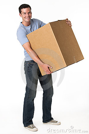 Free Man With Box Royalty Free Stock Photo - 10545545