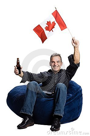 Free Man With Canadian Flag Stock Photography - 2404012
