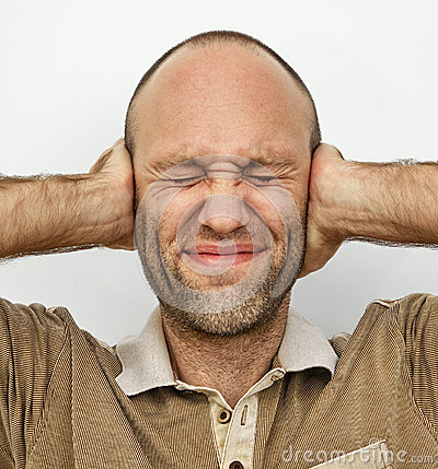 Free Man With Eyes And Ears Tightly Closed Royalty Free Stock Images - 47748939