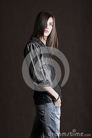 Free Man With Long Hair Royalty Free Stock Photos - 96937408