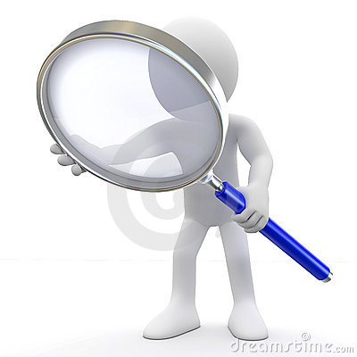 Free Man With Magnifying Glass Stock Photos - 17275483