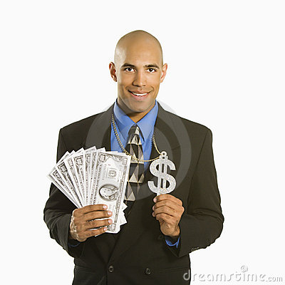 Free Man With Money. Royalty Free Stock Photography - 2431807