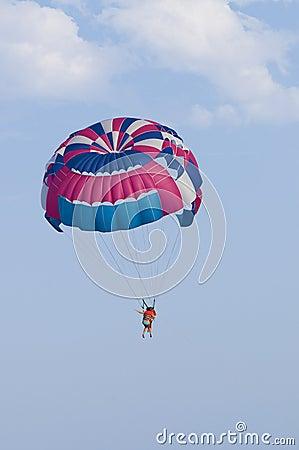 Free Man With Parachute Stock Photos - 10854403