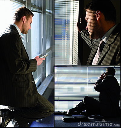 Free Man With Phone Collage Royalty Free Stock Photo - 4093385