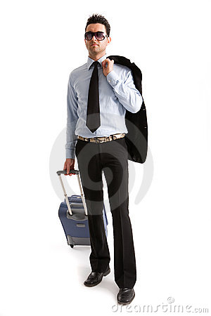 Free Man With Suitcase Royalty Free Stock Photography - 4477067