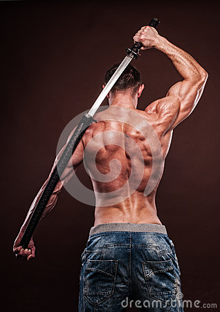 Free Man With Sword Royalty Free Stock Images - 29554399
