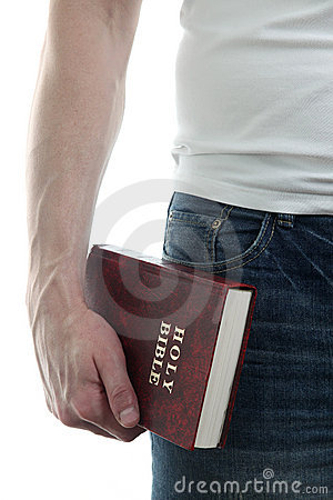 Free Man With The Bible Stock Photo - 23109580