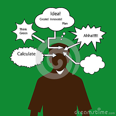 Free Man With Thinking Speech Bubbles Stock Photography - 31550842