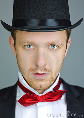 Free Man With Tuxedo And Top-hat Stock Images - 22589564