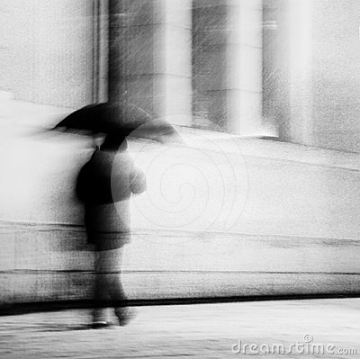 Free Man With Umbrella Stock Images - 24386574