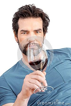 Free Man With Wine Glass Stock Photo - 36664560