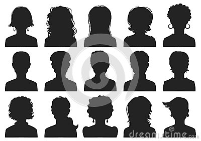 Man and woman avatars