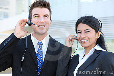 Man and Woman Busienss Team