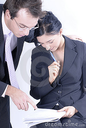 Man and Woman in Business