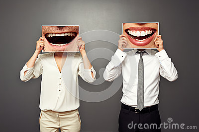 Man and woman changed their smiles