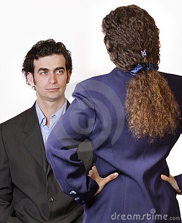 Man woman confrontation