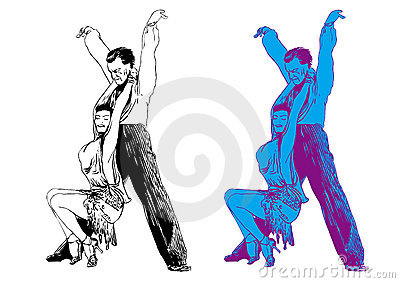 Man and the woman dance