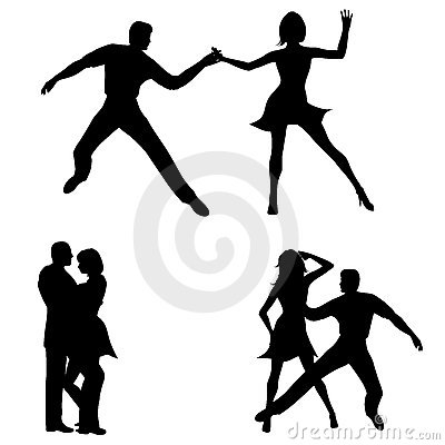 Man Woman Dancing Silhouettes