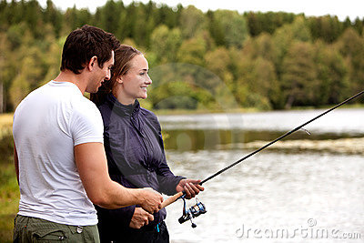 Man and Woman Fishing