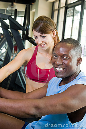 Man And Woman Fitness Exercise