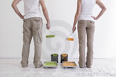 Man and Woman Getting Ready to Paint